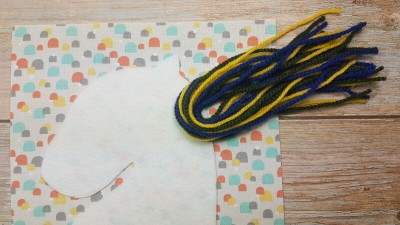 Step 3 how to sew wool cords