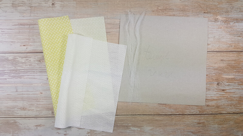 Fabric page preperation materials