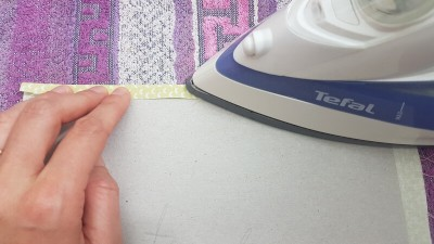 Quiet Book Patterns Preparing Pages Fabric UNI Instructions Step 5.2