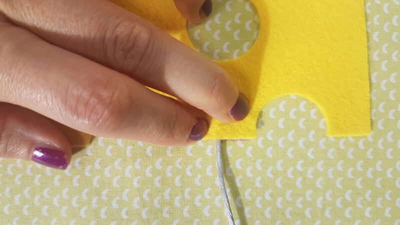 Quiet Book Patterns Mouse & Cheese Instructions Step 8.1