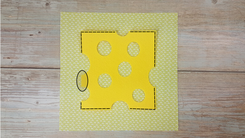 Quiet Book Patterns Mouse & Cheese Instructions Step 6