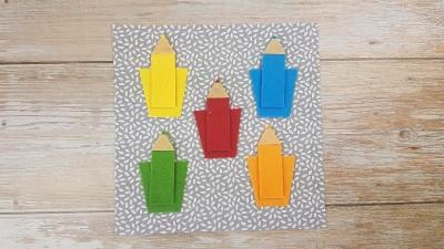 Quiet Book Patterns Color Pencils Instructions Step 5.2