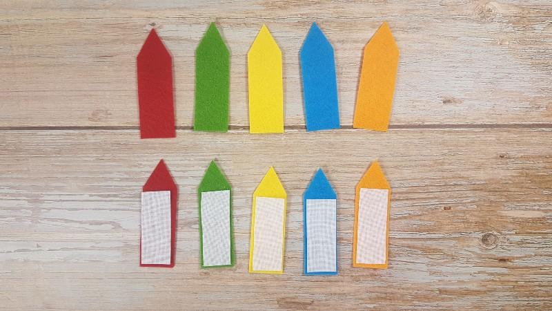 Quiet Book Patterns Color Pencils Instructions Step 2