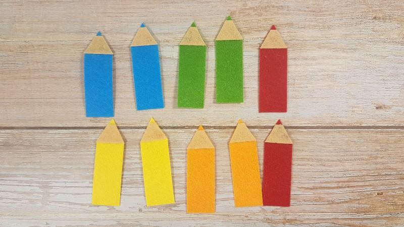 Quiet Book Patterns Color Pencils Instructions Step 3