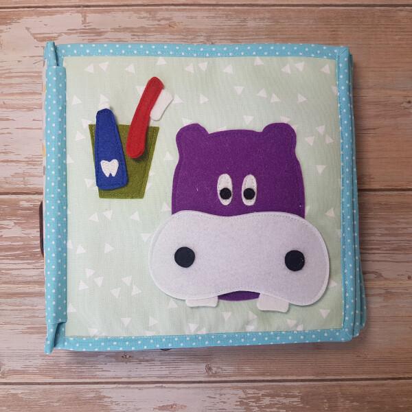 Quiet Book Hippo Teeth Page