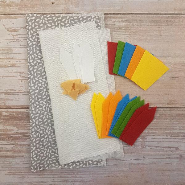 sewing color pencils DIY quiet book kit