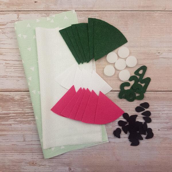 sewing watermelon DIY quiet book kit