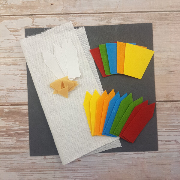 no-sew color pencils DIY quiet book kit