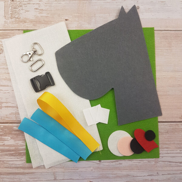 no-sew dog DIY quiet book kit