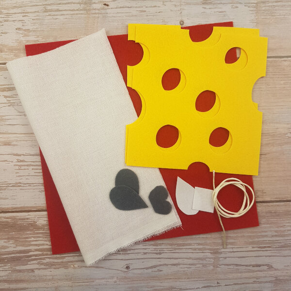 no-sew mouse DIY quiet book kit
