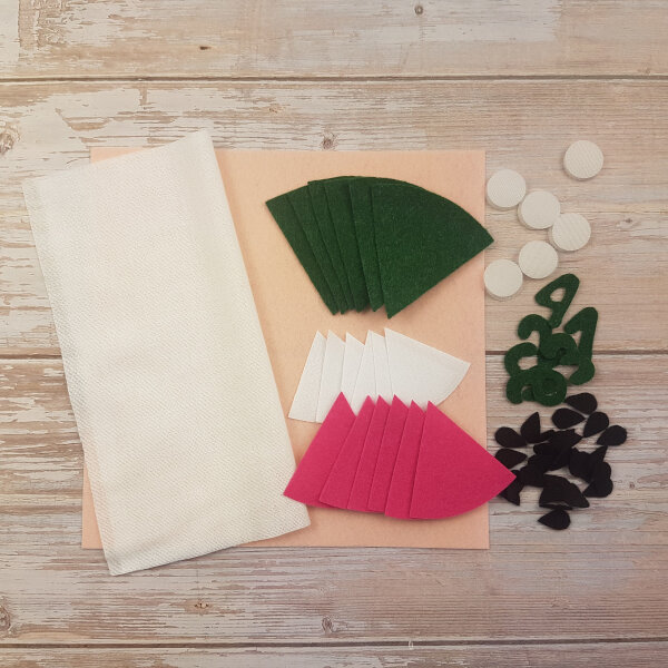 no-sew watermelon DIY quiet book kit