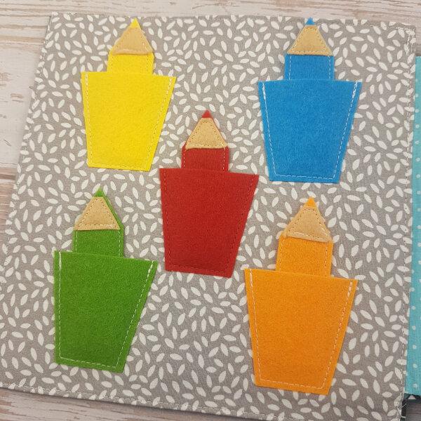 quiet book kits for sale - color pencils