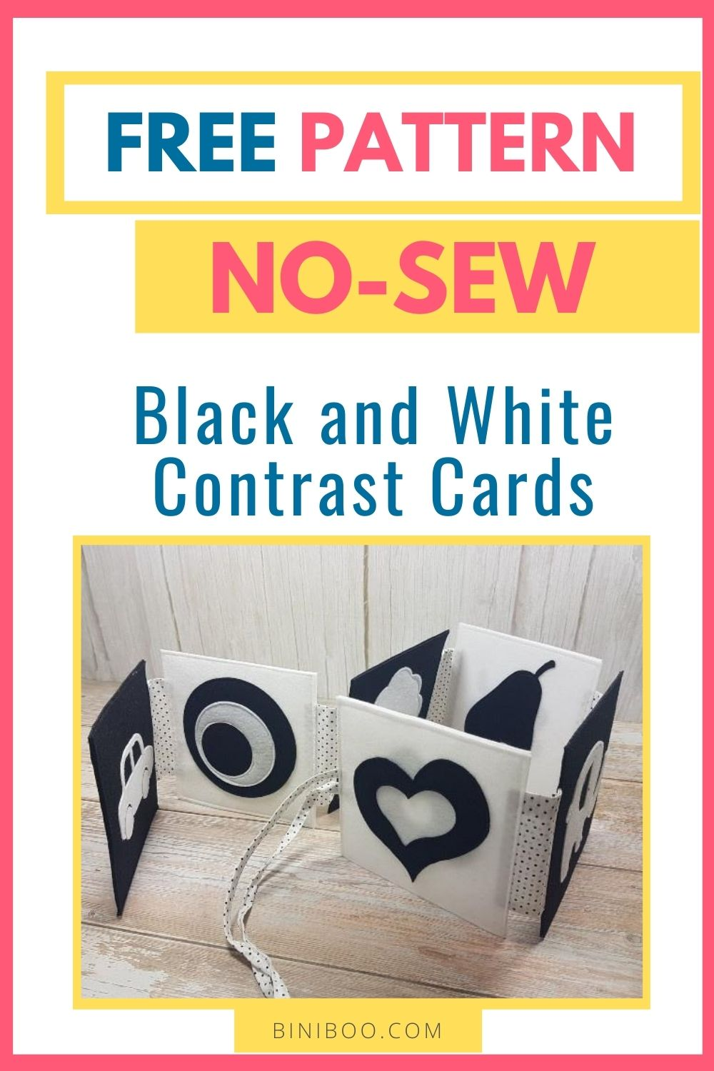 black and white baby cards pattern