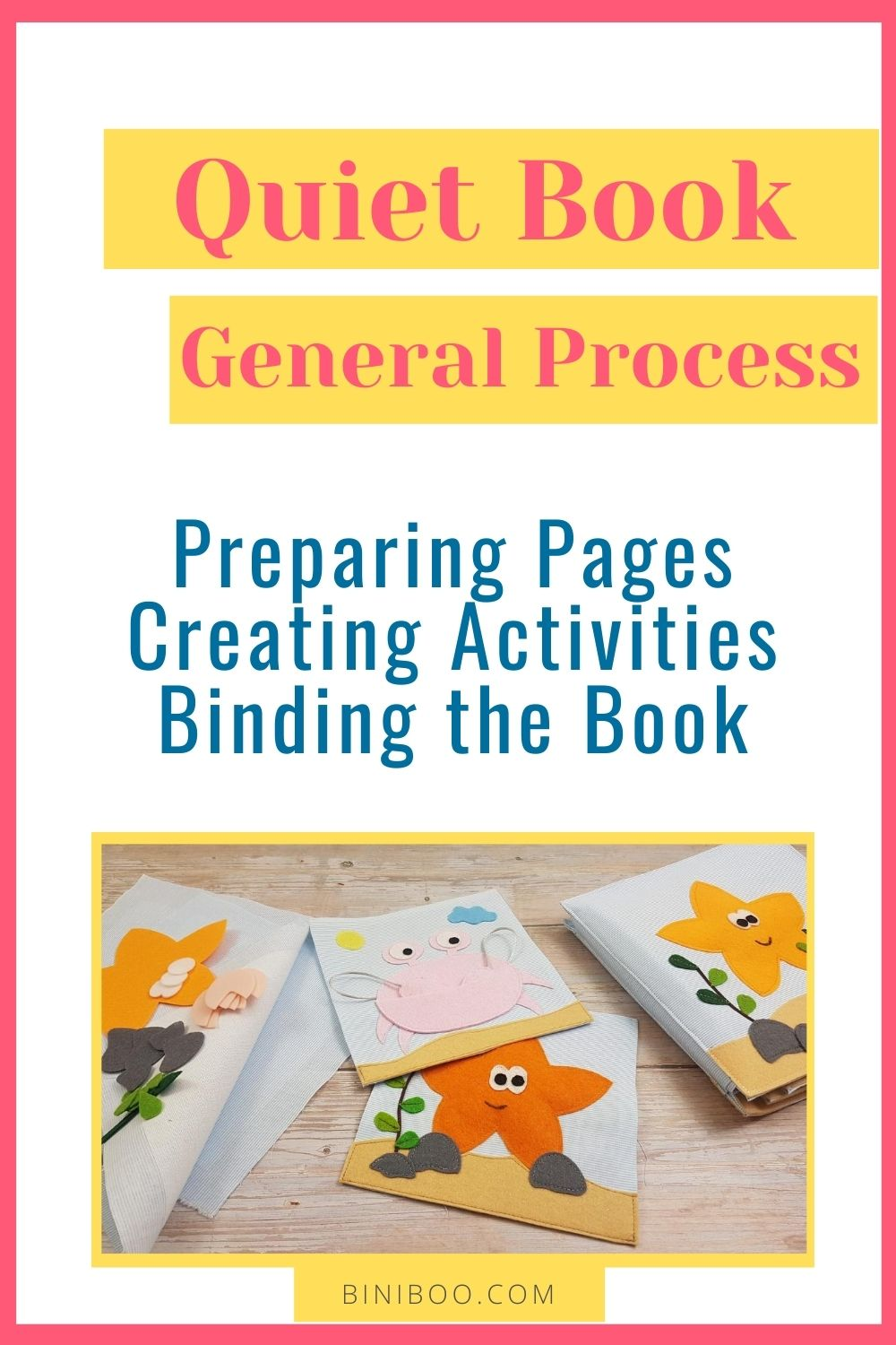 how to make a quiet book