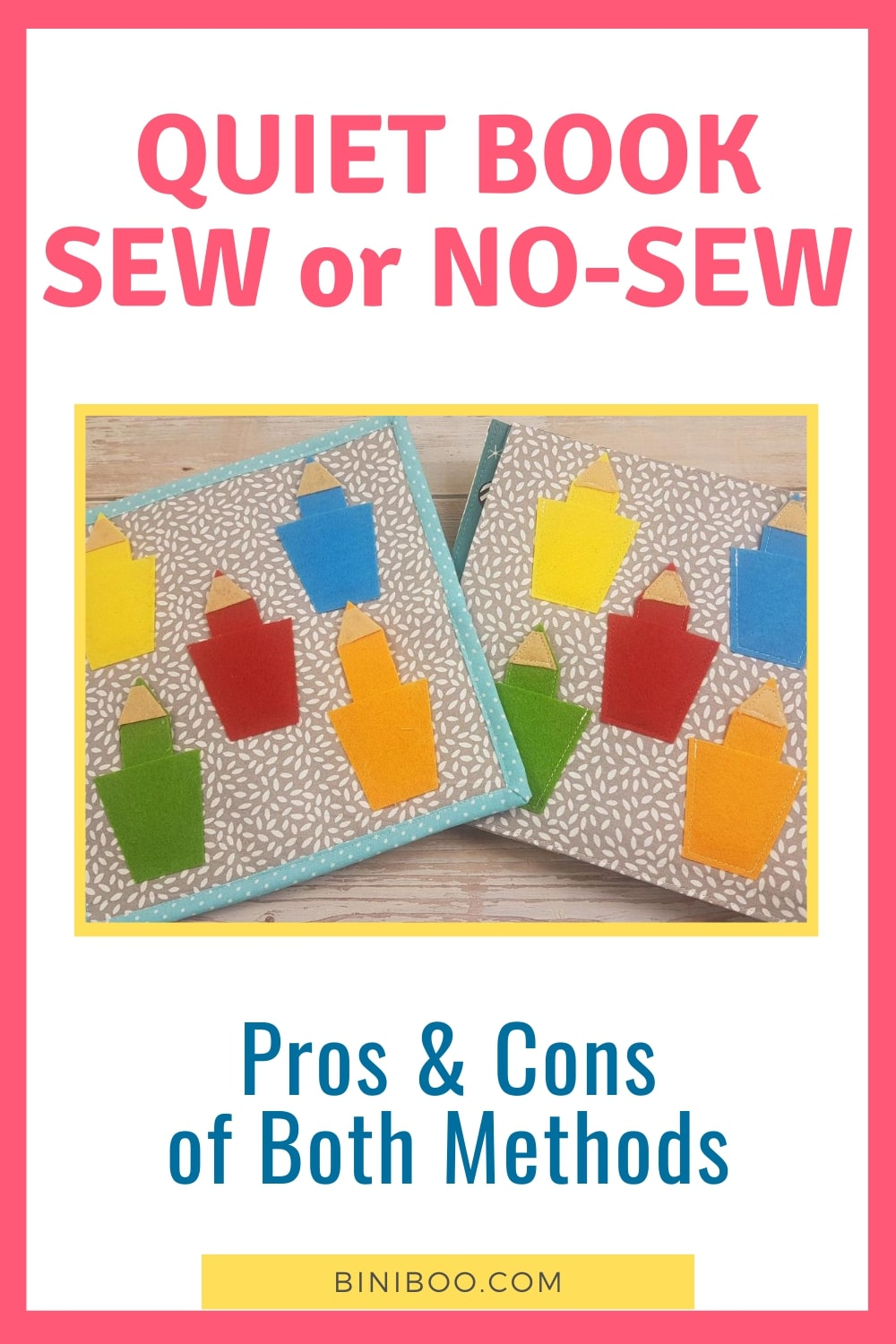 no sew quiet book