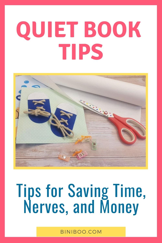 quiet book tips pin