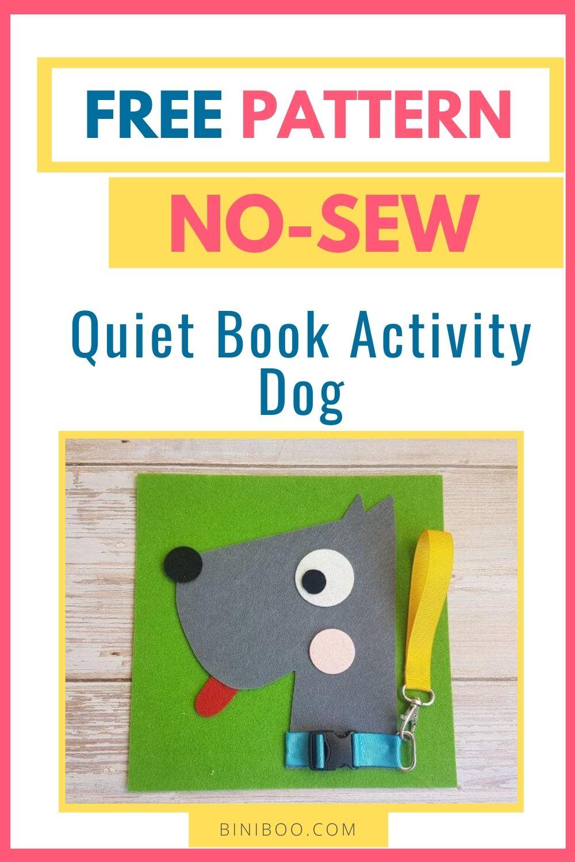 quiet book activity dog