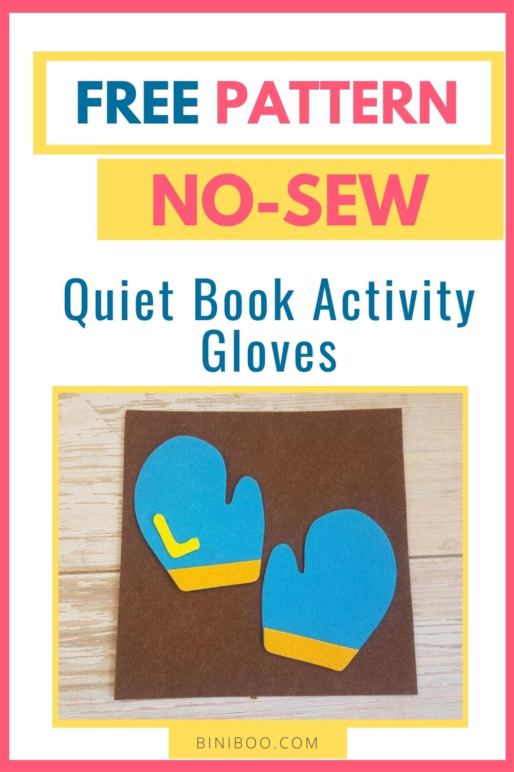 quiet book page gloves
