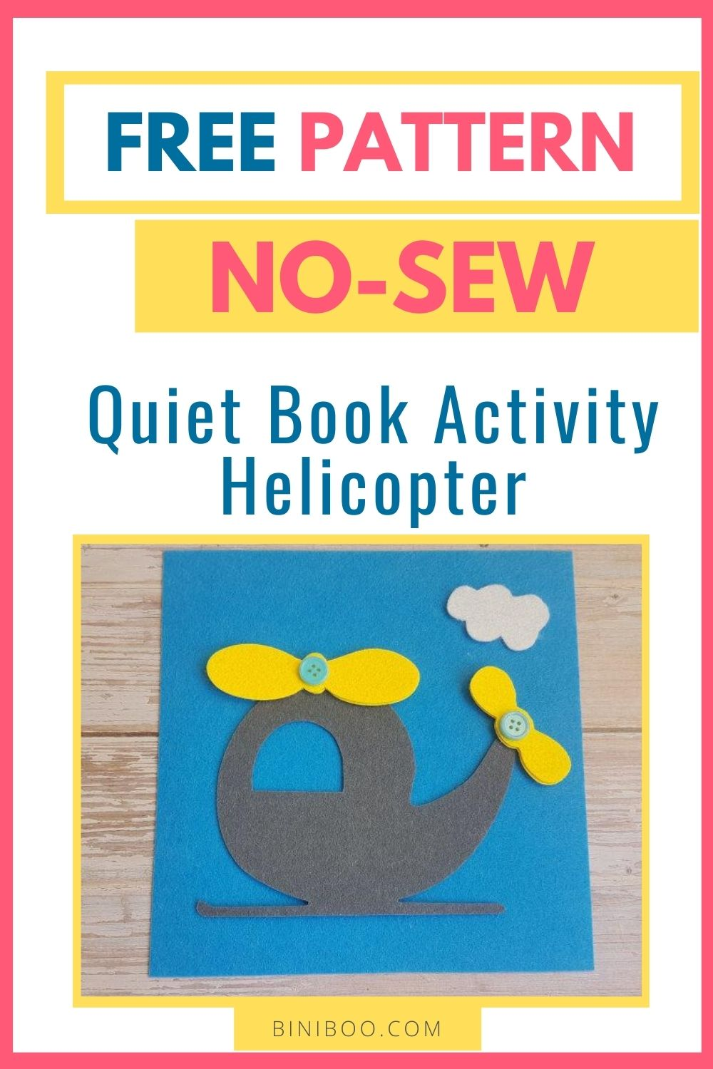 quiet book page helicopter