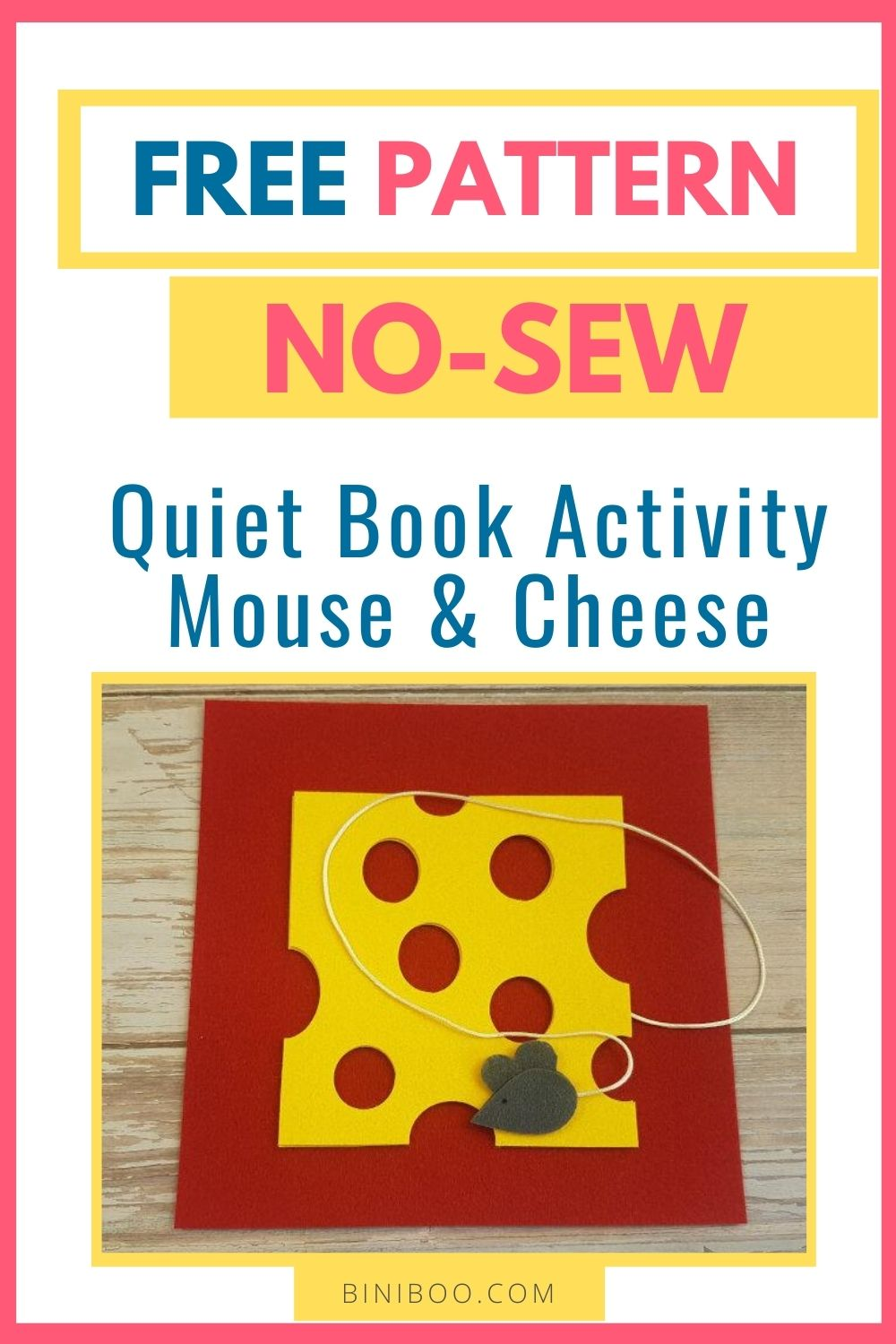 quiet book page mouse