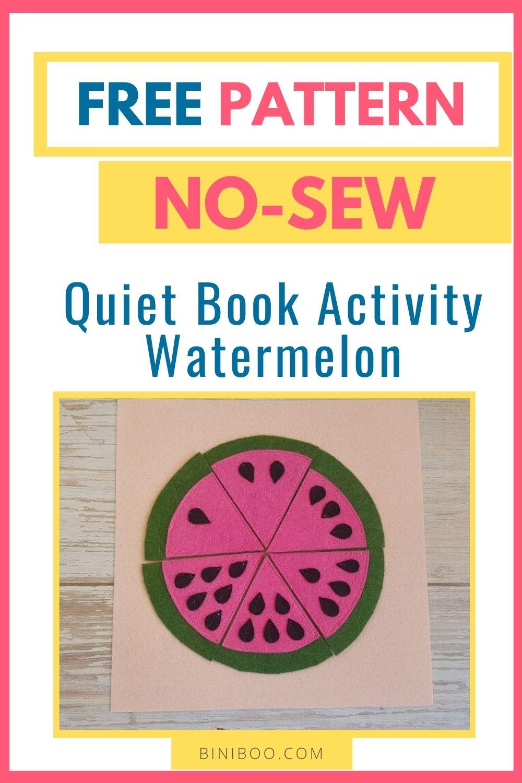 quiet book page watermelon