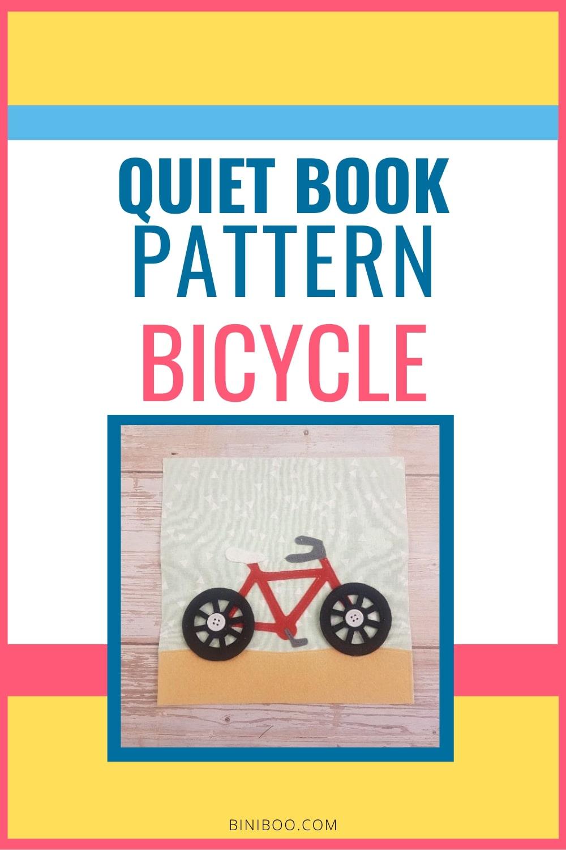 Quiet Book Activity bicycle