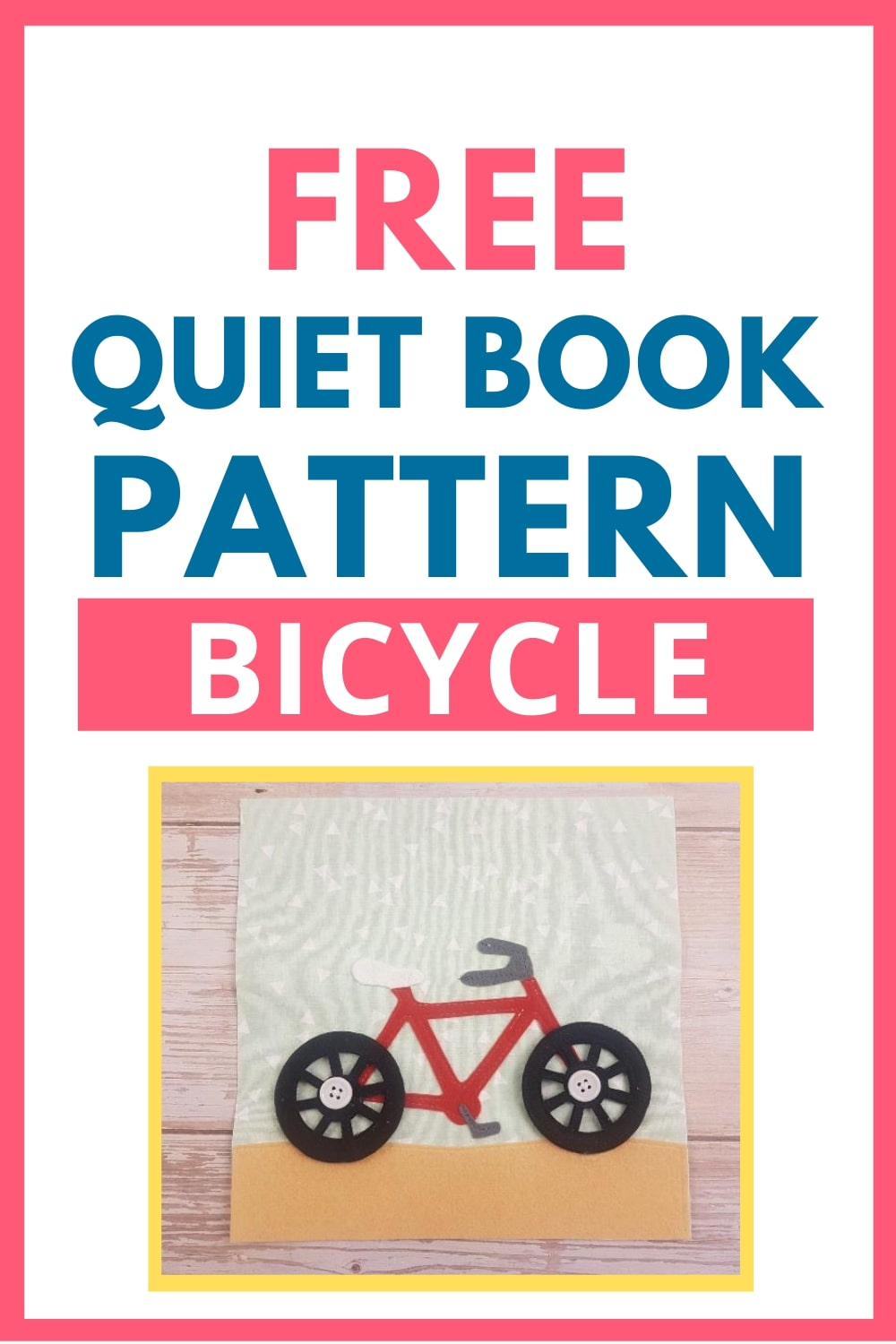 quiet book pattern bicycle