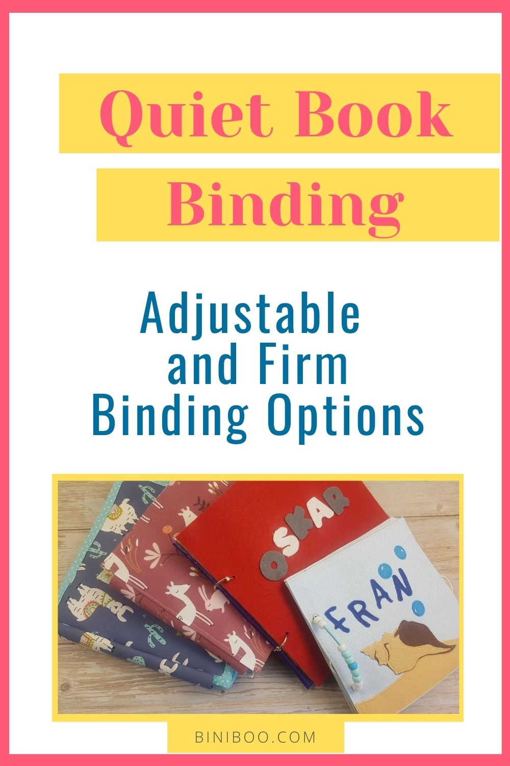 quiet book binding pin