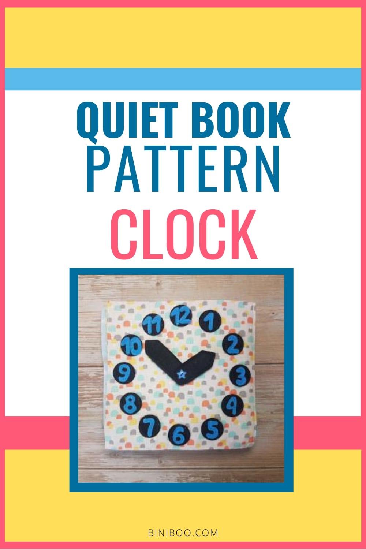 Quiet Book Activity Clock