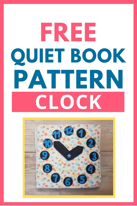 quiet book pattern clock