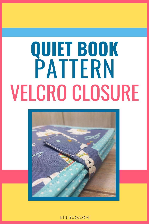quiet book pattern velcro closure