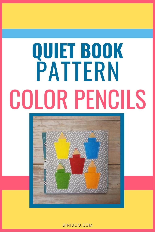 quiet book color pencils