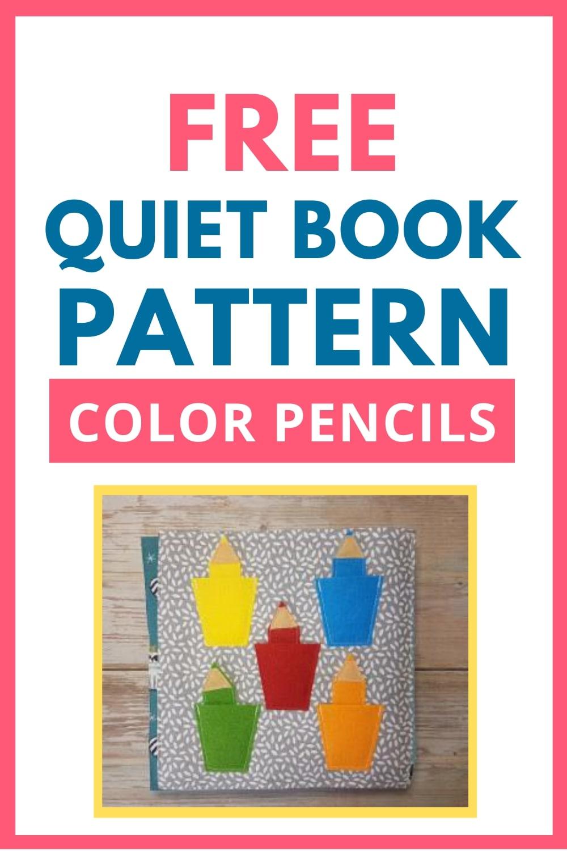 Quiet Book Activity Color Pencils