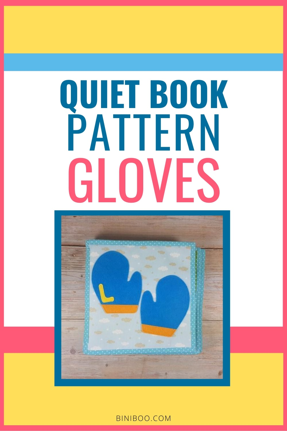 Quiet Book Activity gloves