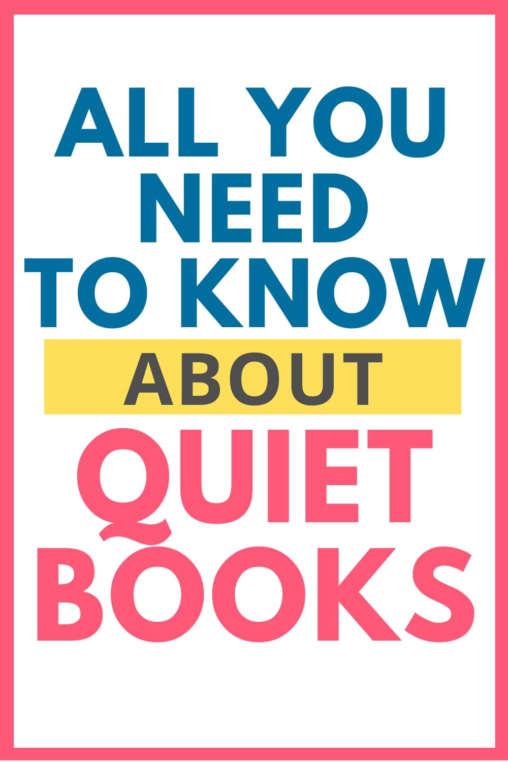 Quiet Book Guide Pin