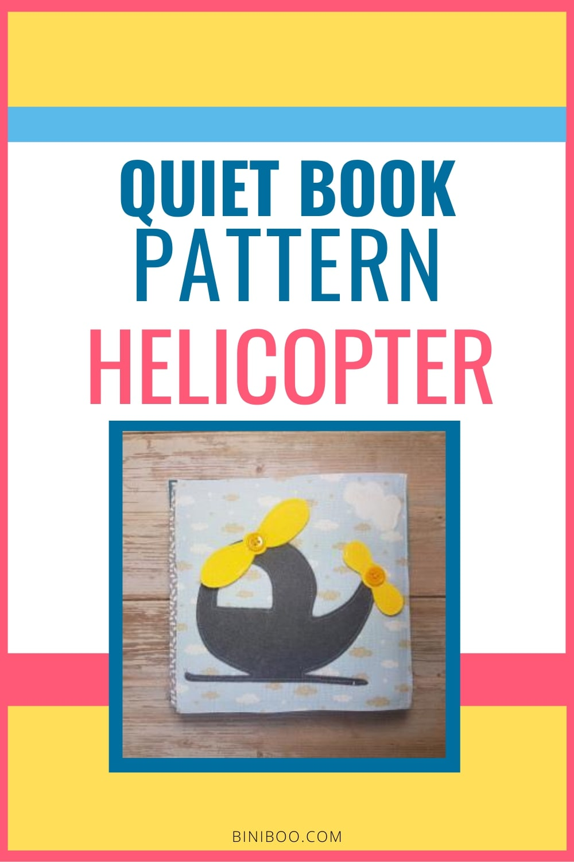 Quiet Book Activity helicopter