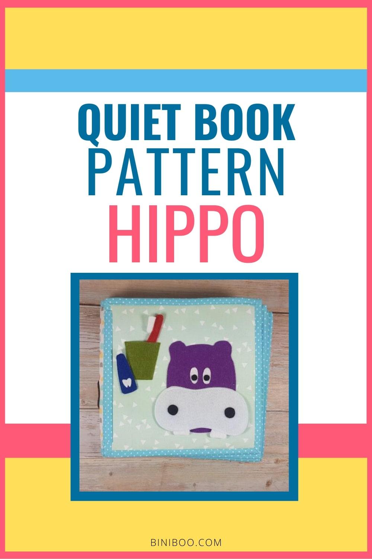 Quiet Book Activity Hippo