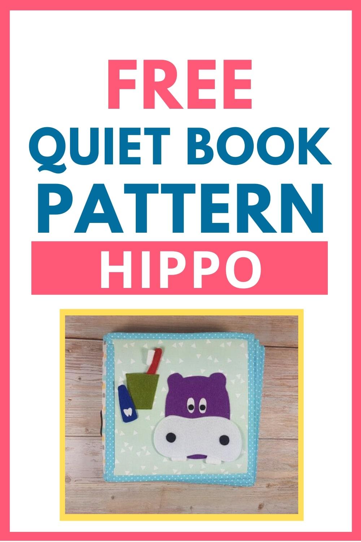 quiet book pattern hippo