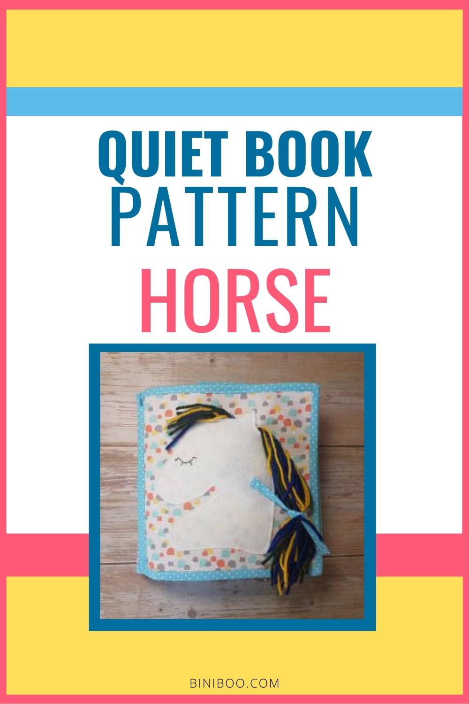 quiet book page horse