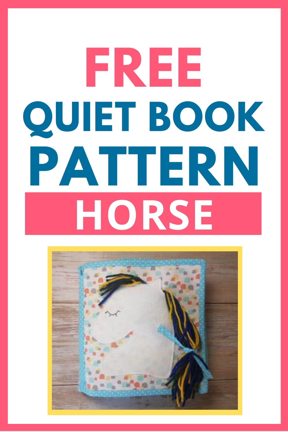 quiet book pattern horse
