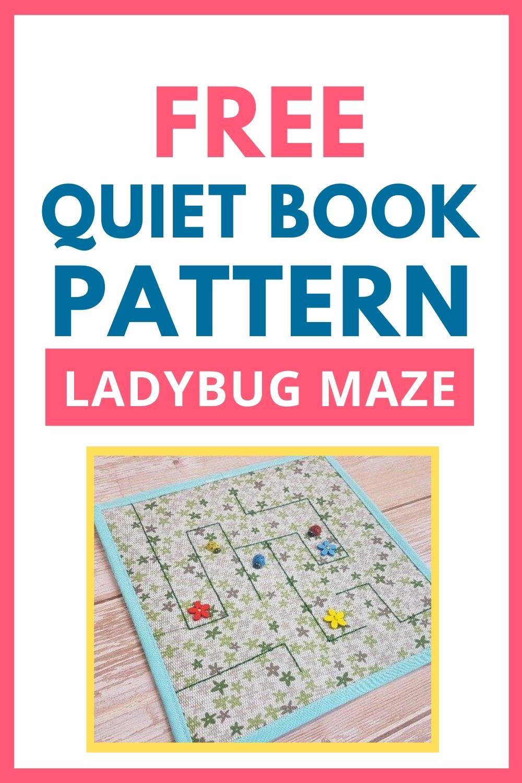 quiet book page ladybug