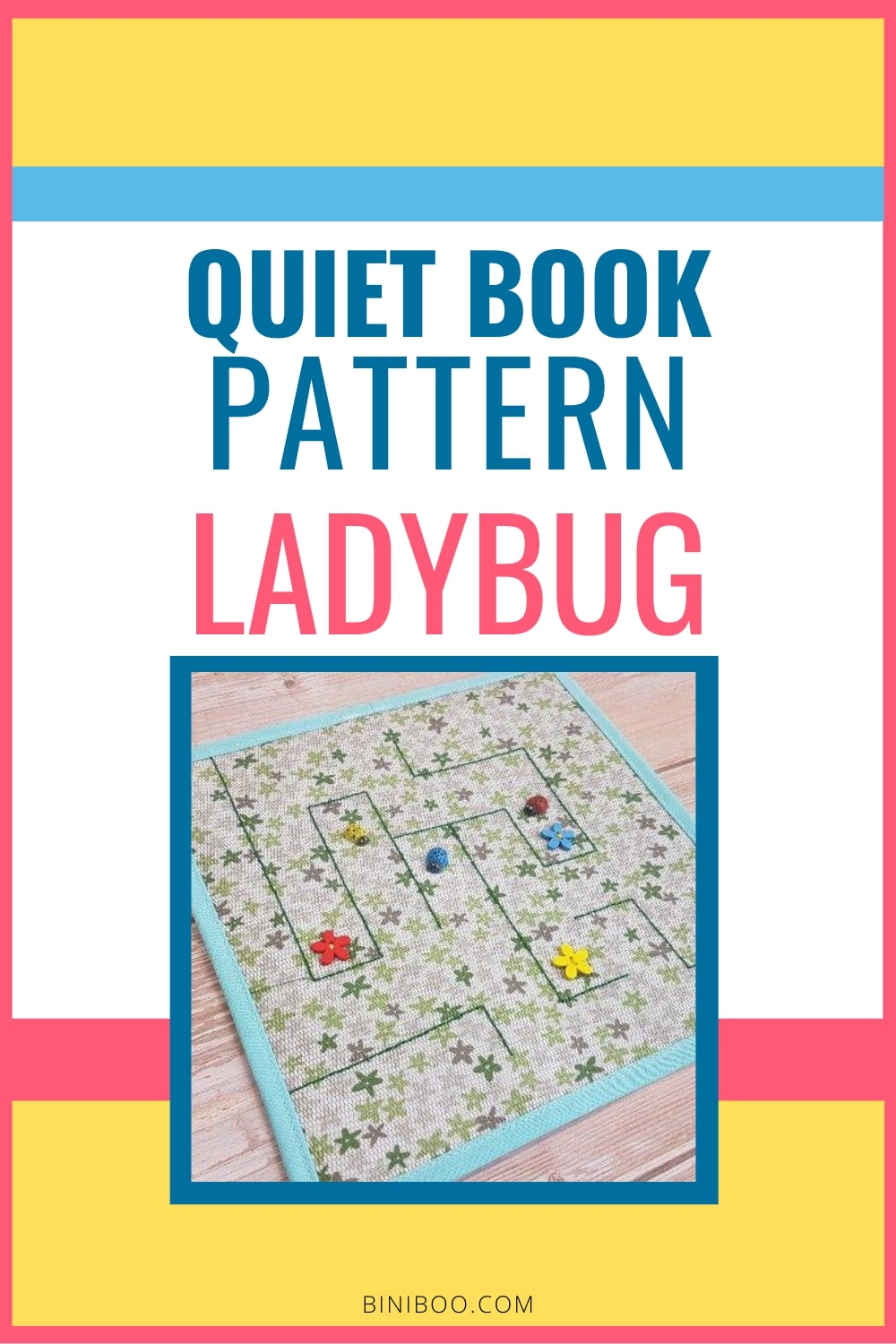 quiet book patterns ladybug