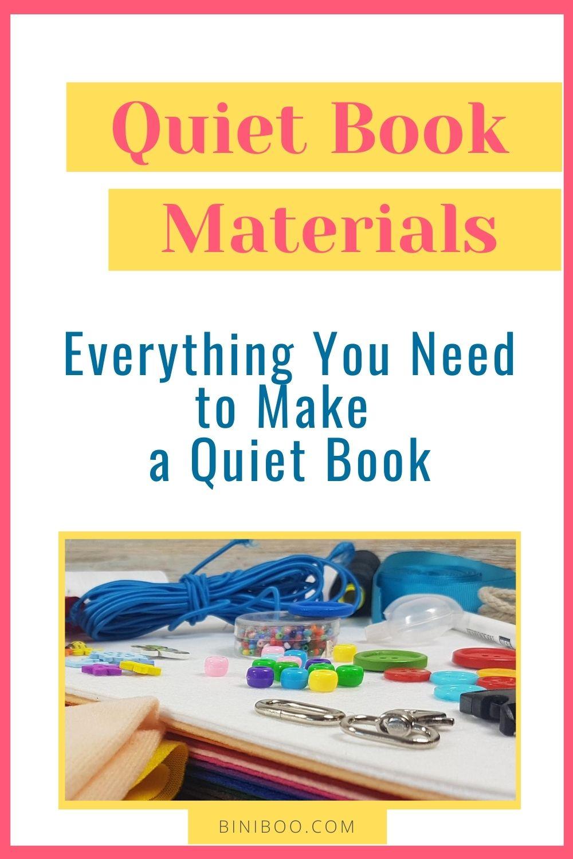 quiet book materials pin