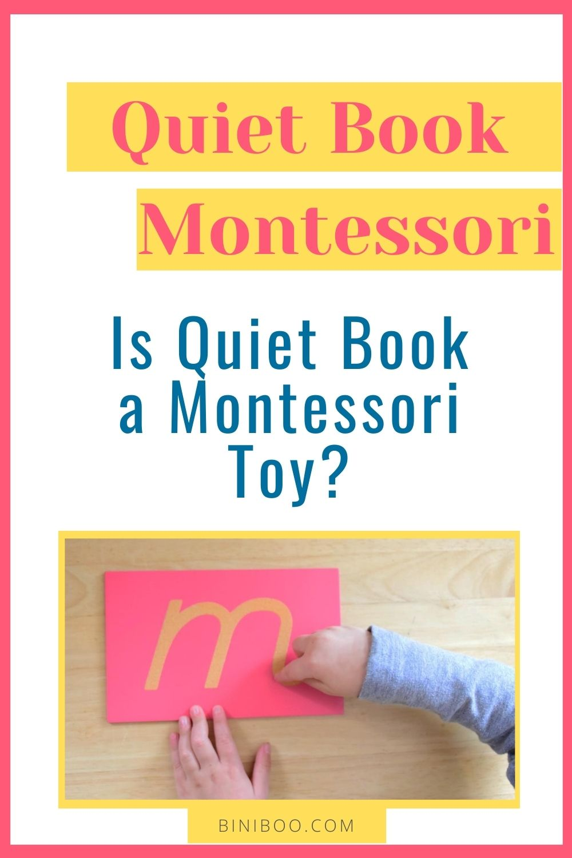 quiet book montessori pin