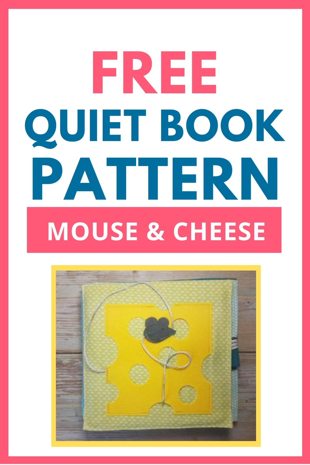 quiet book pattern mouse
