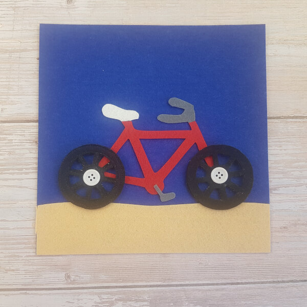 quiet book bicycle no-sew page