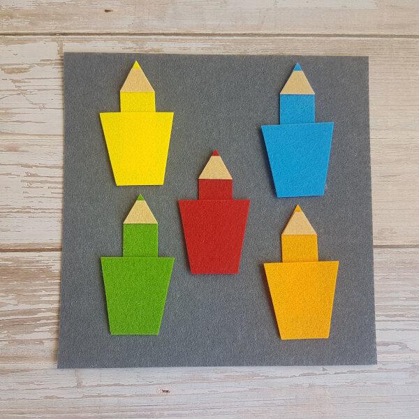 quiet book color pencils no-sew page
