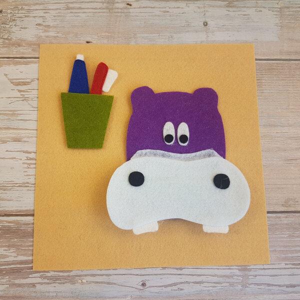 quiet book hippo no-sew page