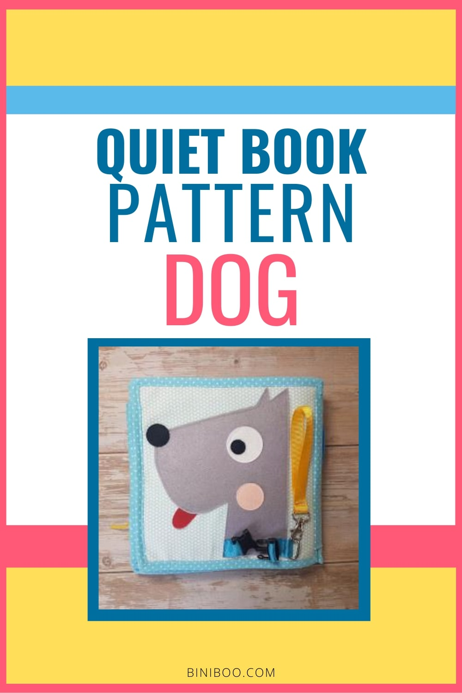 quiet book page dog