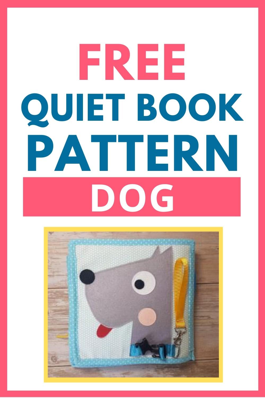 quiet book pattern dog